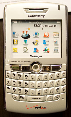Wireless Phone with Sticker for a Display